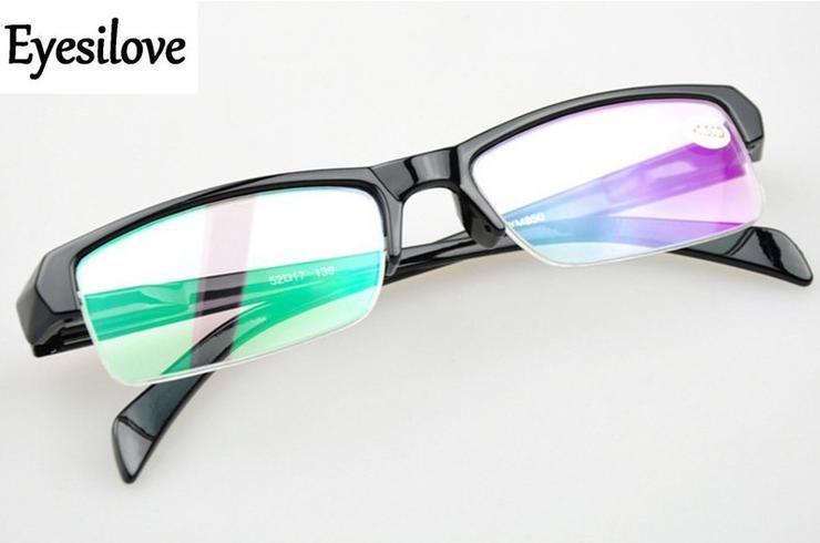 63f6542a8e Eyesilove cheap Finished myopia glasses Nearsighted Glasses plastic half-rim  Myopia glasses -1.0