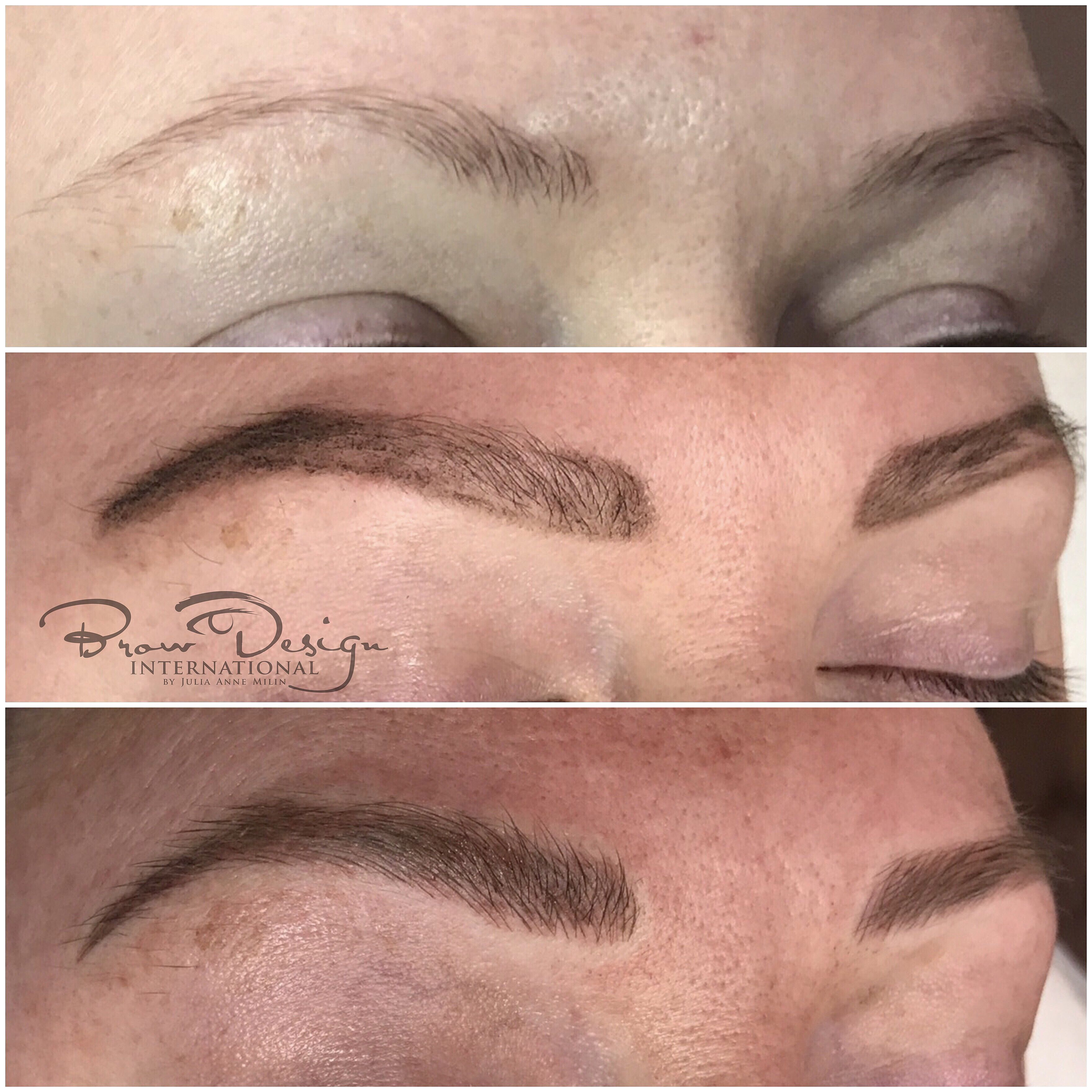 This is what the microblading process looks like before