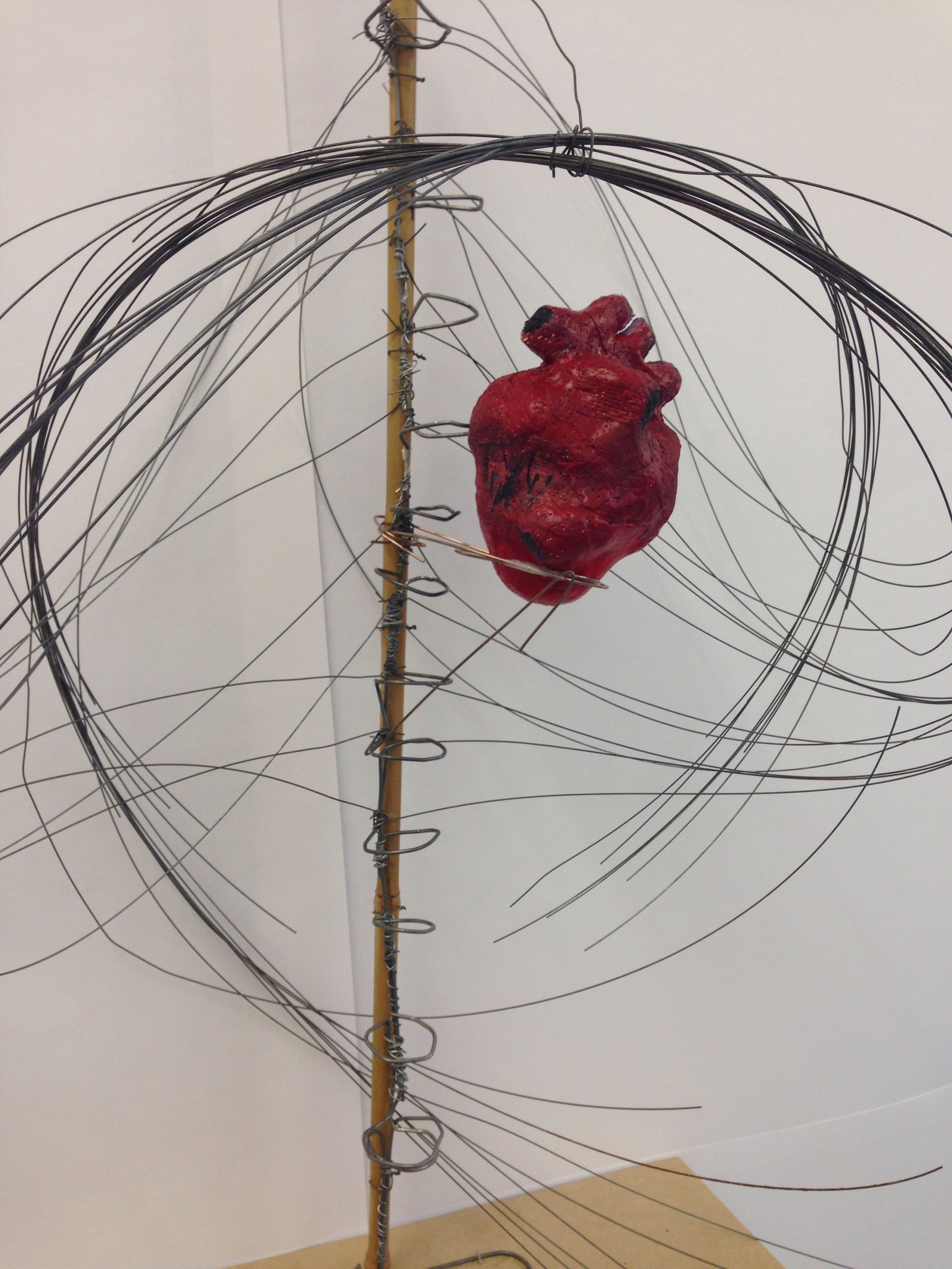 Side-view shot of my finished sculpture \'The Lifeless Heart ...