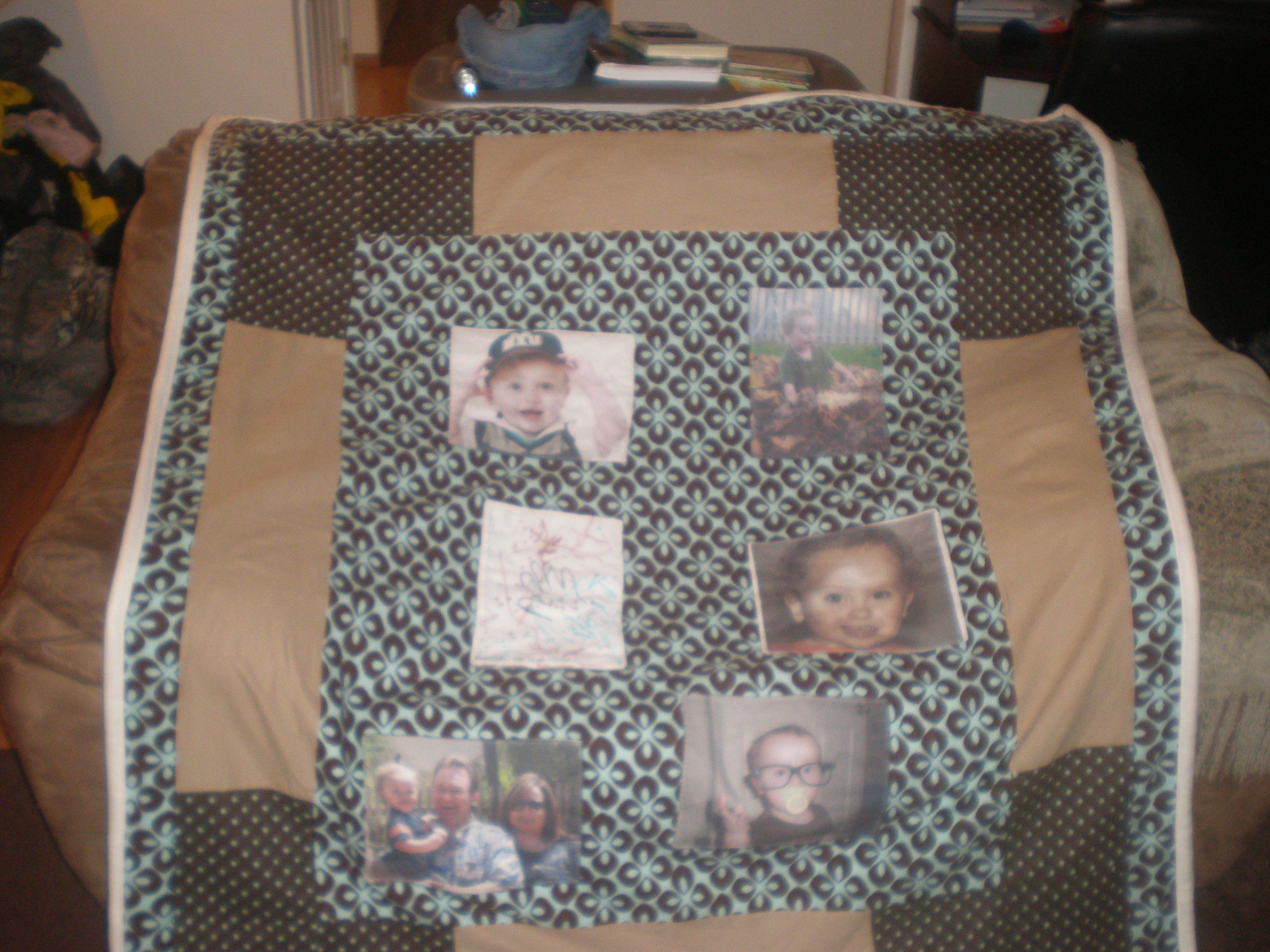 I made this photo quilt for my parents Christmas present, it was a lot easier than I thought it would be. Turned out so cozy