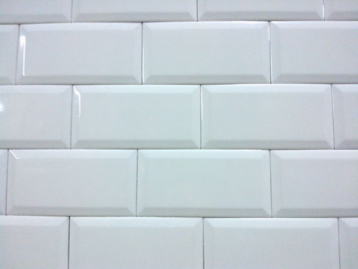Azulejo blanco brillo biselado blanco pinterest for Azulejos blancos