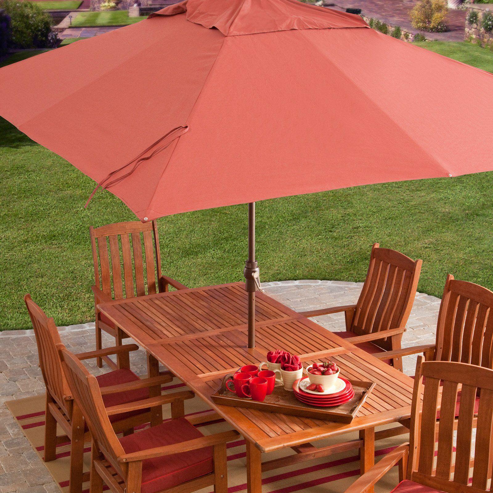 ft aluminum rectangle patio umbrella