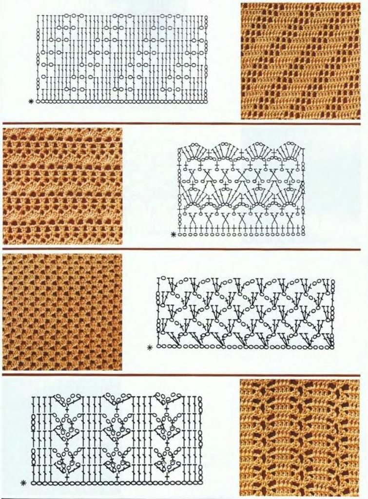 Crochet patterns with diagram   Puntadas   Pinterest   Puntadas ...