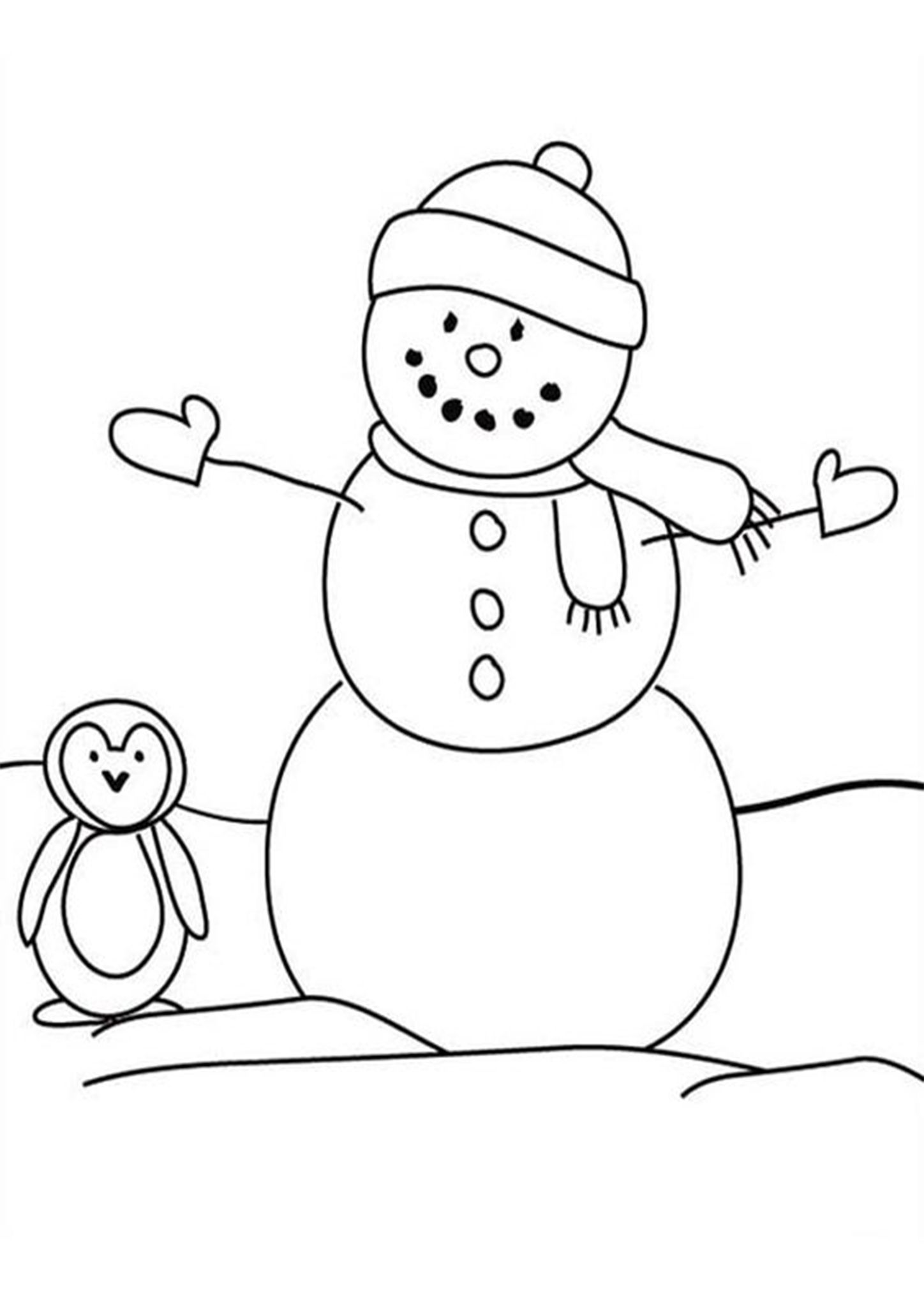 Free Easy To Print Penguin Coloring Pages Snowman Coloring Pages Penguin Coloring Pages Dinosaur Coloring Pages