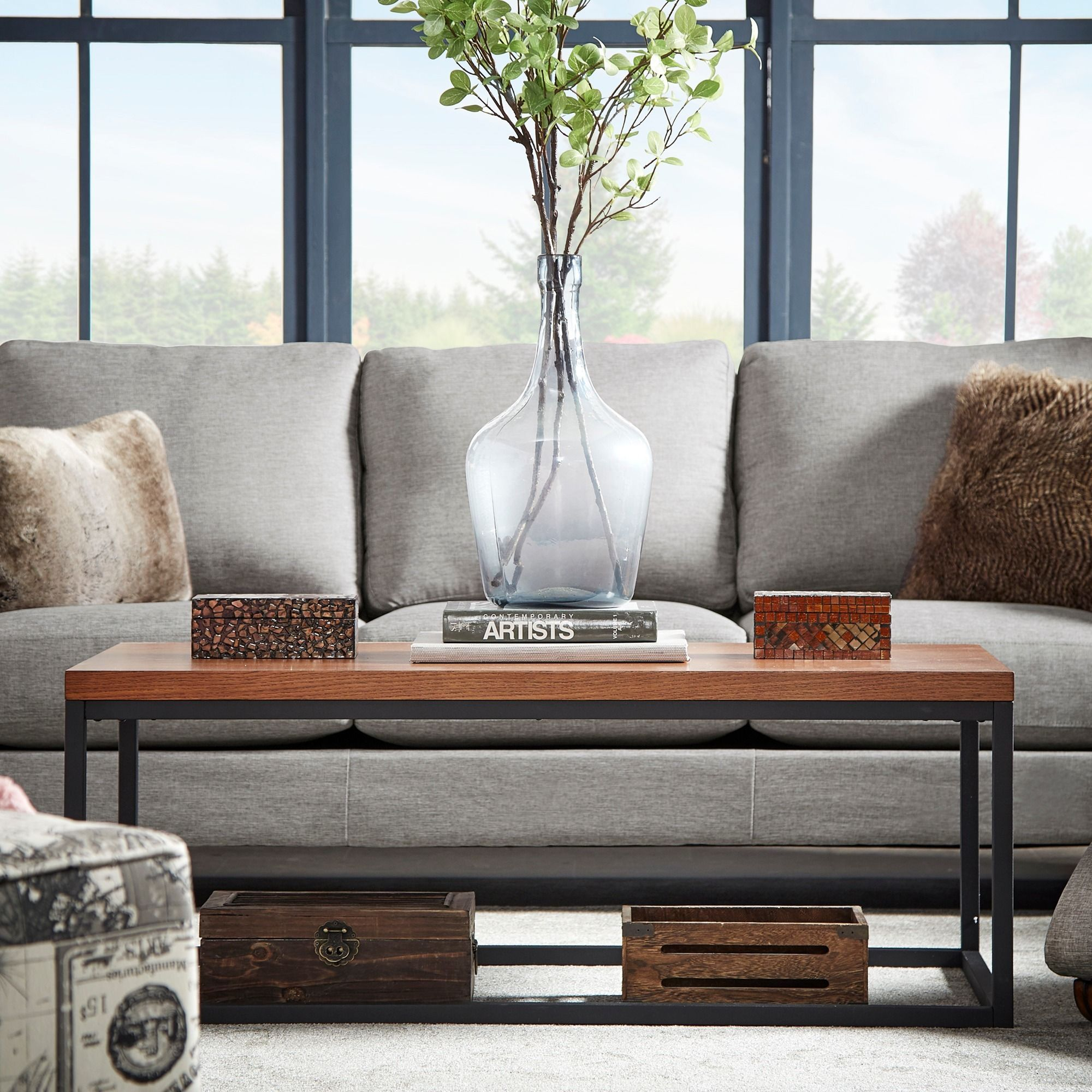 Create an aura of industrial chic in your living room when you