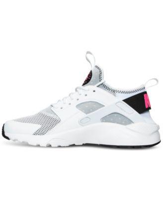 7806a8f3bf76e Nike Girls  Air Huarache Run Ultra Running Sneakers from Finish Line -  White 7