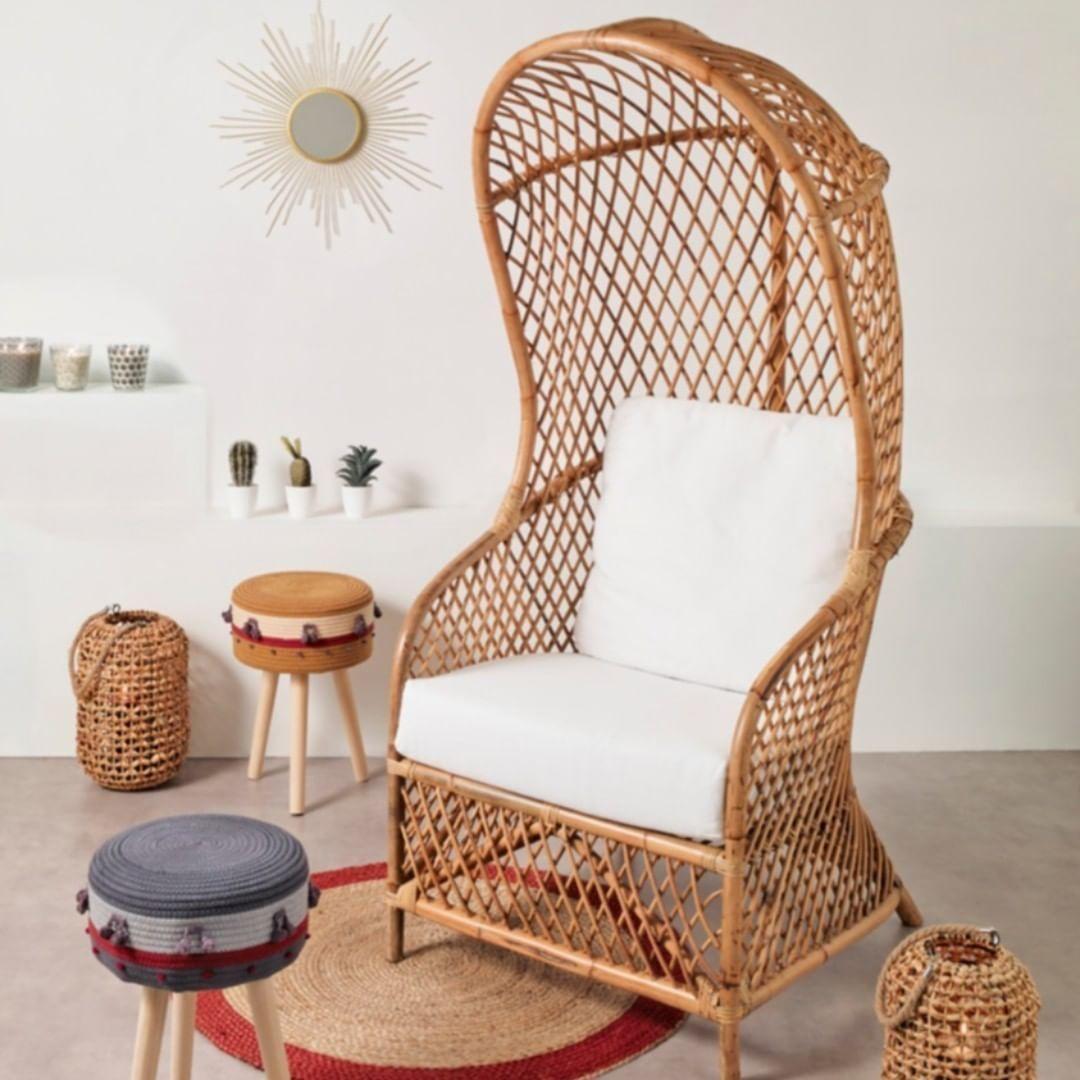 Fauteuil Et Tabouret Boheme Chic Centrakor En 2020 Mobilier De Salon Idee De Decoration Deco