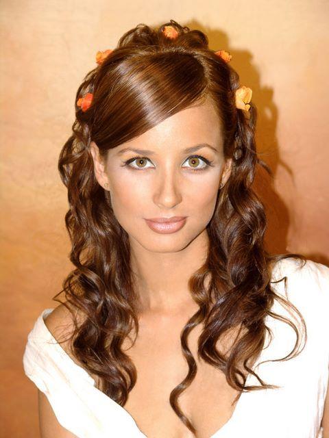 peinados de fiesta con rizos de cabello largo curlz longhair