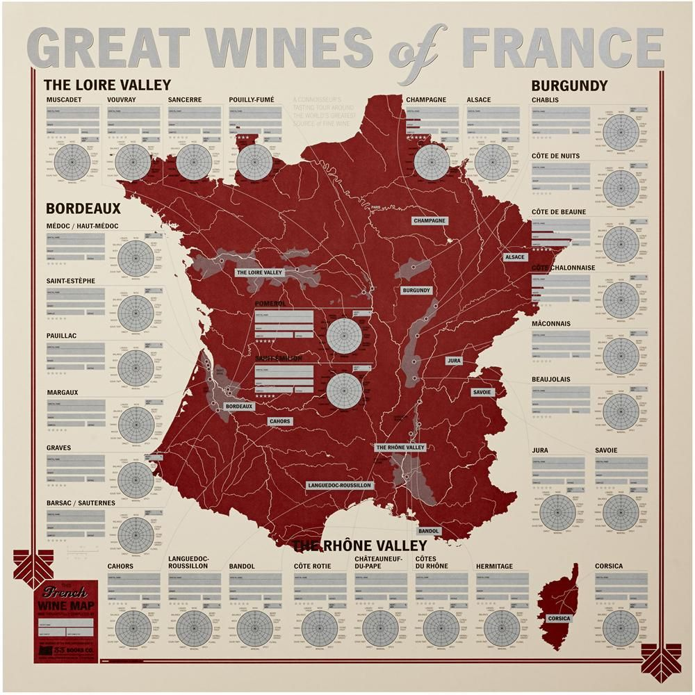 Great Wines Of France Unique Wine Tasting Map France Wine Wine Map French Wine