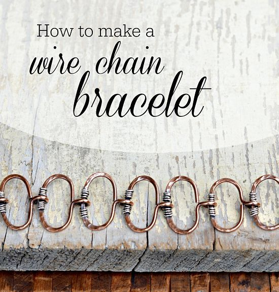 How to Make a Wire Chain Bracelet: Jewelry Making Tutorial | Diy ...