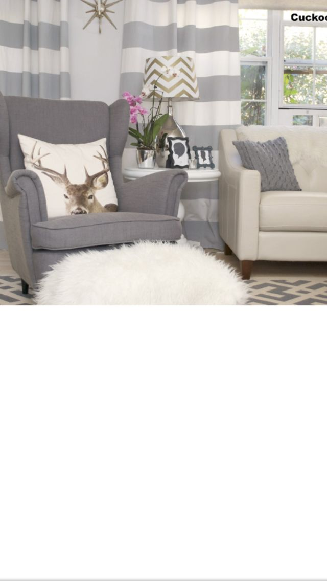 @ Nancy, curtains like these for my kitchen/living room/entry?? #graystripedwalls