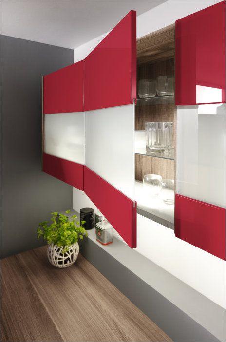 стекло+глянец в оформлении фасада кухни ALNO IMPULS Стекло в - alno küchen arbeitsplatten