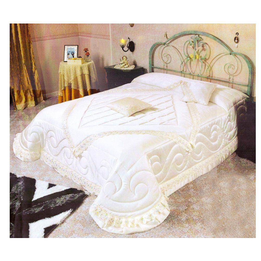 665afbe5e3 Trapunta Perla Invernale Piumone Moderno Elegante Matrimoniale Panna Ricamo