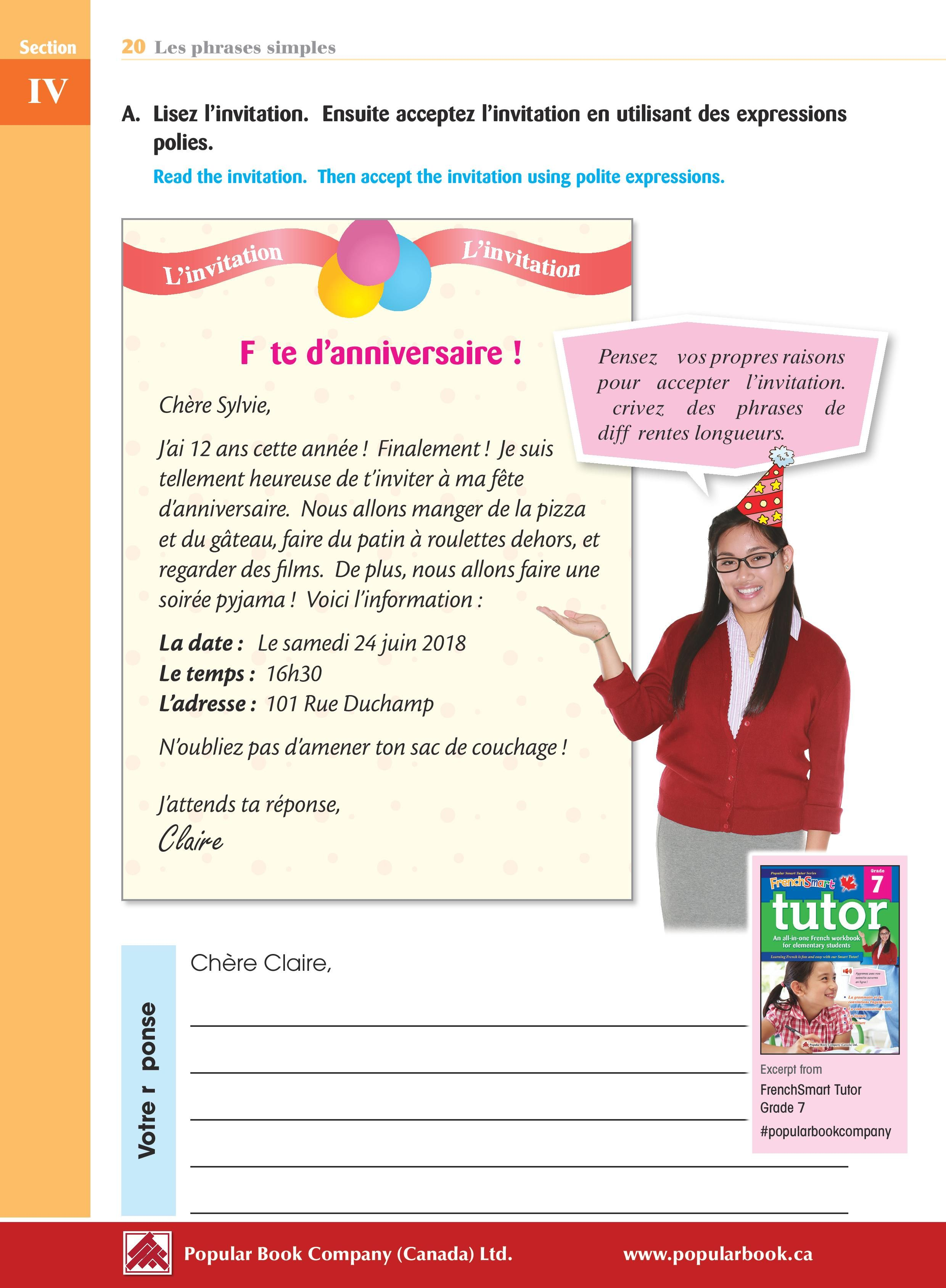 Download the free sample pages from FrenchSmart Tutor Grade 7 ...