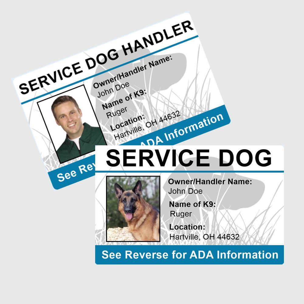Custom personalized id badge combo pack handler dog