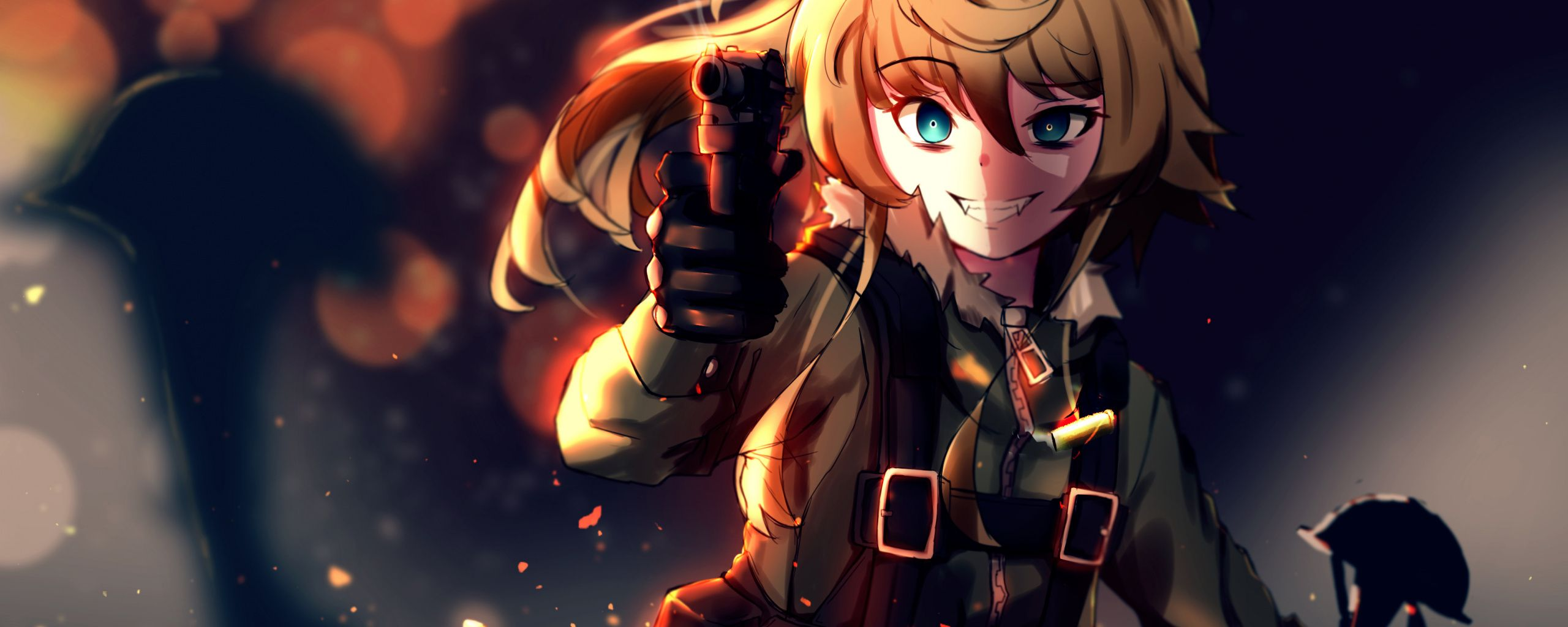 2560x1024 Wallpaper Artwork Soldier Tanya Degurechaff Youjo
