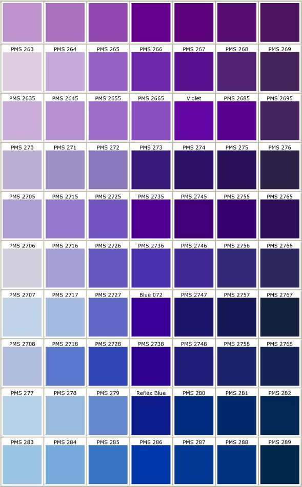 Pms Colors Purple Pantone Colors 5 Color Purple Pantone Color