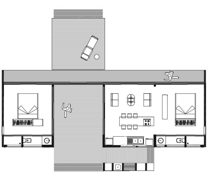 Dog Trot House Plans | The Dog Trot Floor Plan To Be Decorated In Updated  Quaker