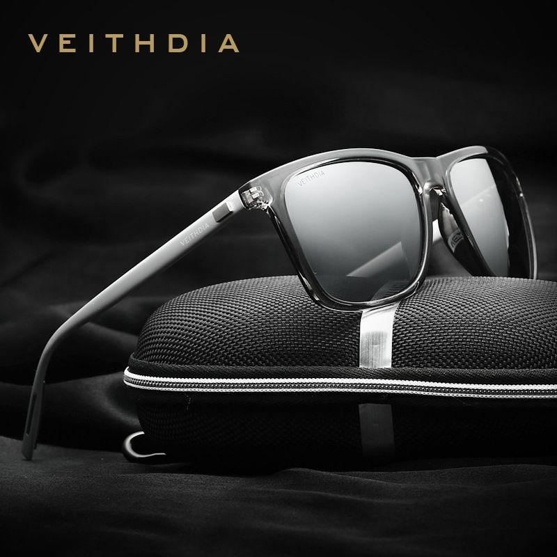 3d3239c5848e9 VEITHDIA Marca Unisex Retro Alumínio + TR90 Óculos Acessórios Óculos de  Lente Polarizada Óculos De Sol Do Vintage Óculos De Sol Para Homens Mulheres  6108