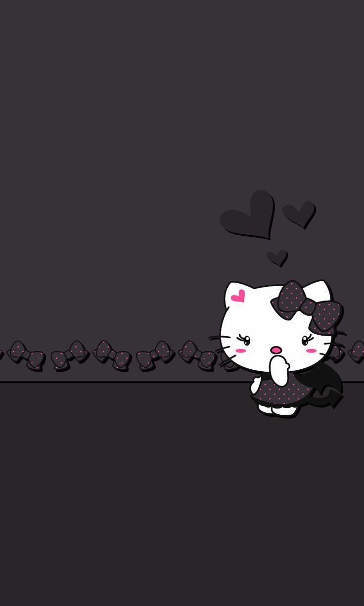 Pin By Kimberly Rochin On Black Hello Kitty Hello Kitty Wallpaper