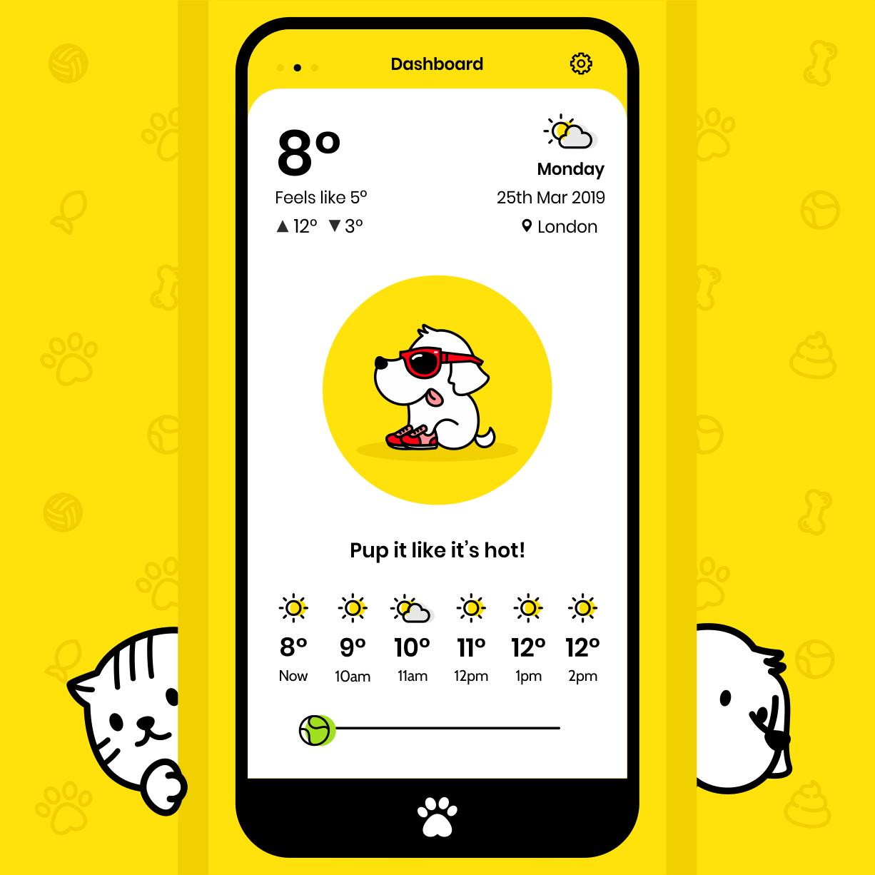 Cats & Dogs App Design에 있는 핀