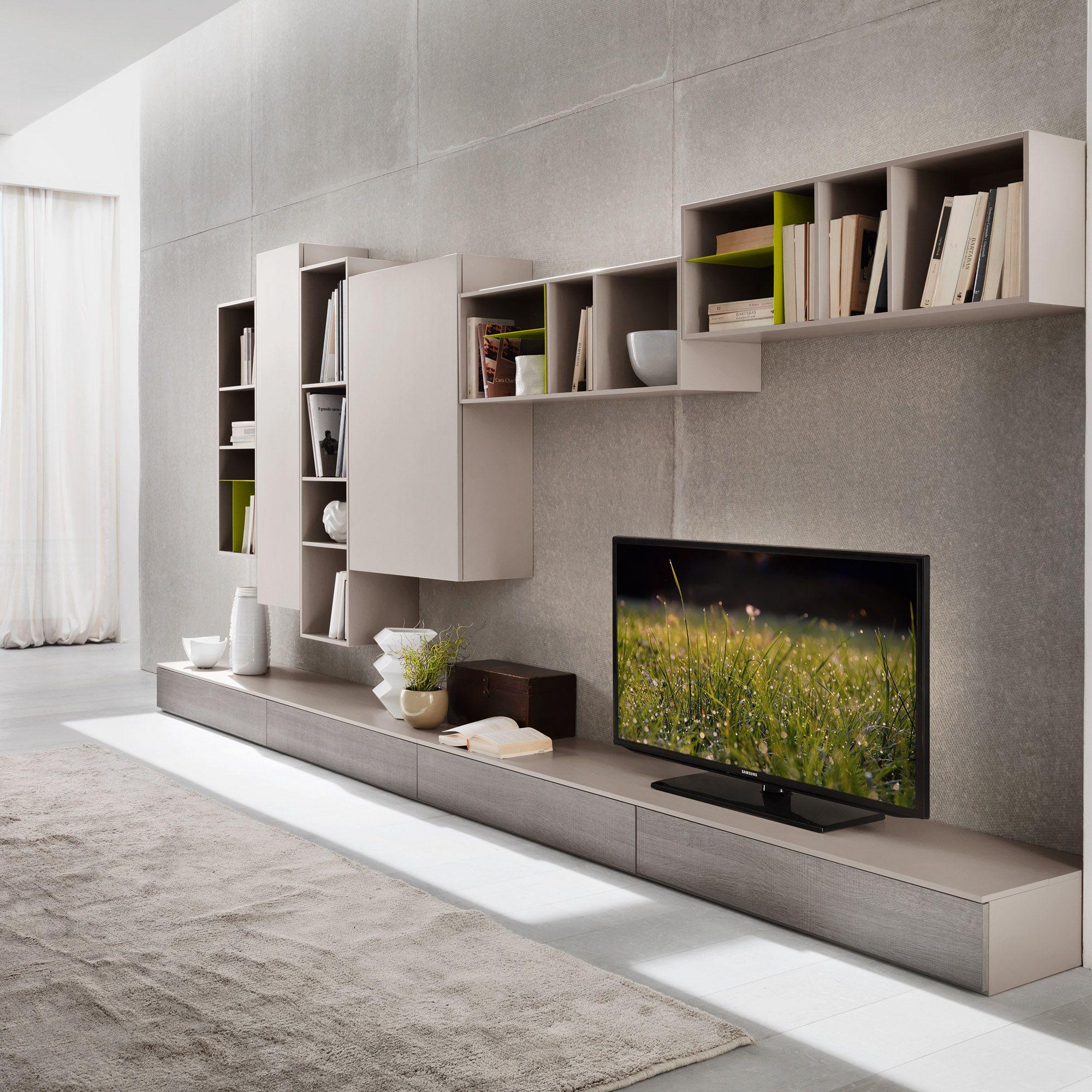 Tv Unit Modern Contemporary Design By Siluetto 360 Cm Length At