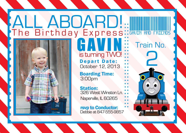 train birthday invitation templates free - invitations design, Birthday invitations
