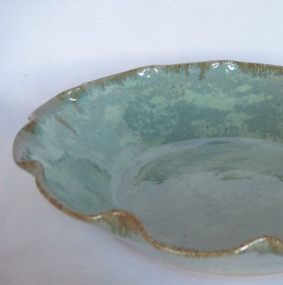 Large Pottery Bowl  Flower shape  Fresh Fruit Bowl  by AnnMarieL, $55.00