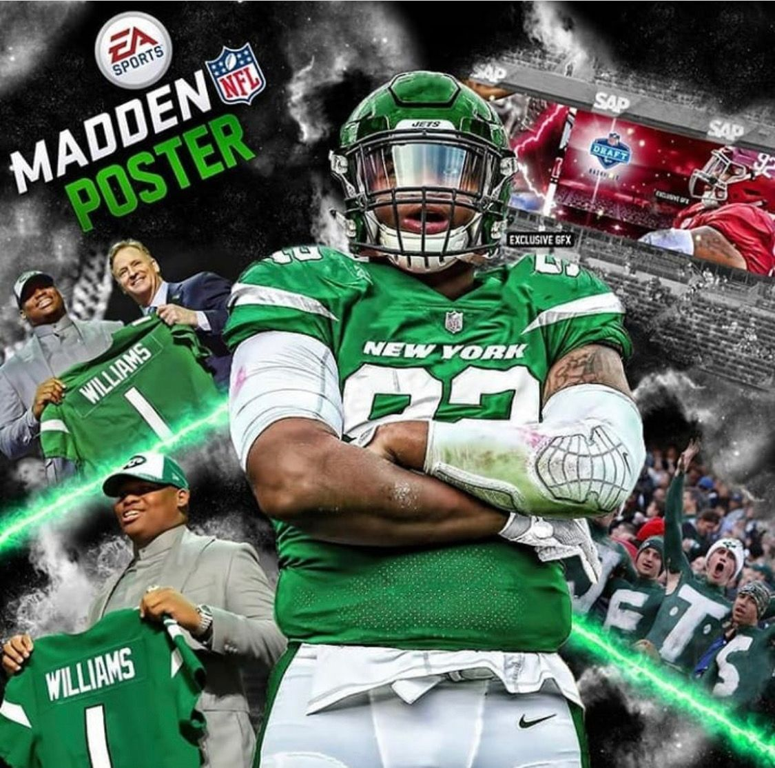 Quinnen Williams As A Jet Madden Graphic 2019nfldraft Alabama Rolltide Bama Builtbybama Rtr Crimsontide Ramme Alabama Crimson Tide Roll Tide Alabama