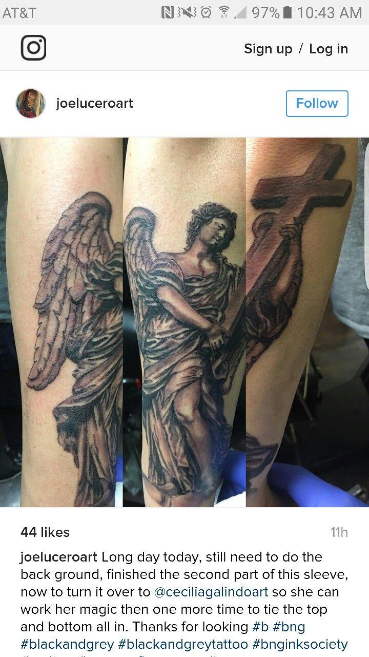 Guardian angel tattoo my 2nd tattoo done karma tattoo