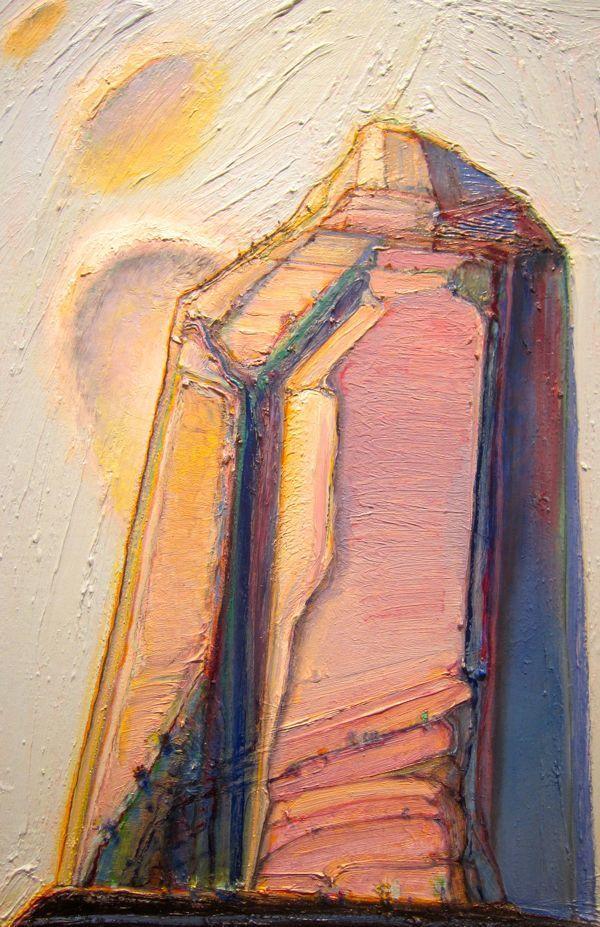 Wayne Thiebaud - ?pink cliff? - Wayne Thiebaud - ?pink Cliff? Art By - Thiebaud, Wayne Pinterest