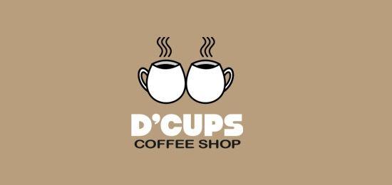 Coffee logo design: D'cups coffee shop