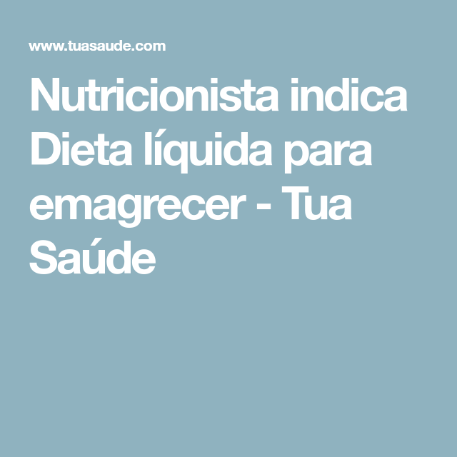 dieta liquida 2 dias