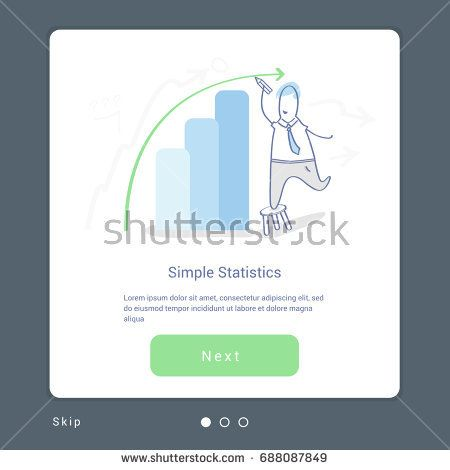 Business Illustration Concept Of Statistical Information Report