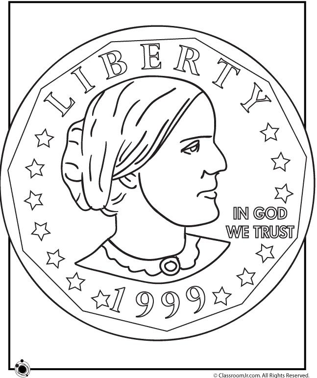 16 Fabulous Famous Women Coloring Pages For Kids Susan B