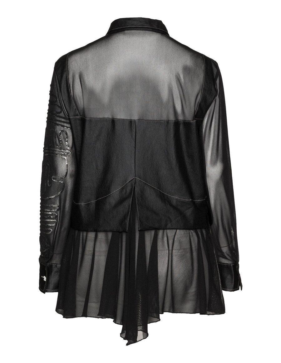 Elisa Cavaletti Embellished fabric blend blouse in Black ...