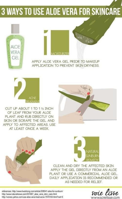 Twitter acneskinsite how to use aloe vera for acne detox pinterest beaut soin - Remede contre coup de soleil ...