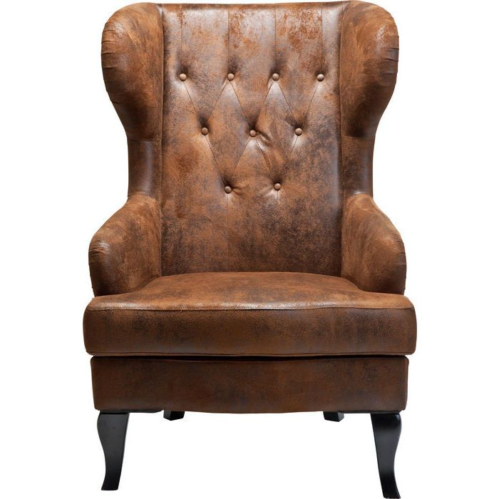 Wing Chair Vintage Kare Design The Perfect Rustic - Ledersessel Design