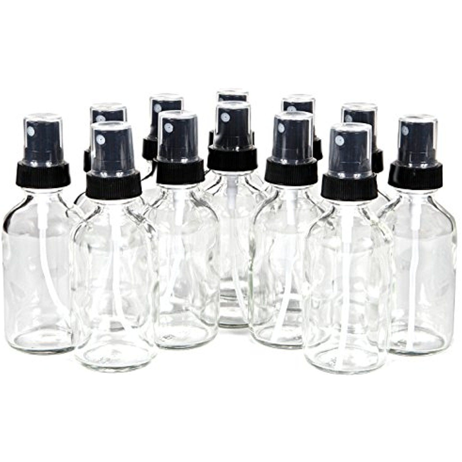 Vivaplex 12 Clear 1 Oz Glass Bottles With Black Fine Mist Sprayers Details Can Be Found By Click Fine Mist Sprayer Small Glass Bottles Glass Spray Bottle