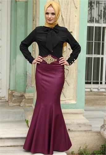 6a16bf306dc90 Ayşe Melek Etek Gömlek Kombin Siyah Mürdüm 6340 Elbiseler, Moda, Kırmızı