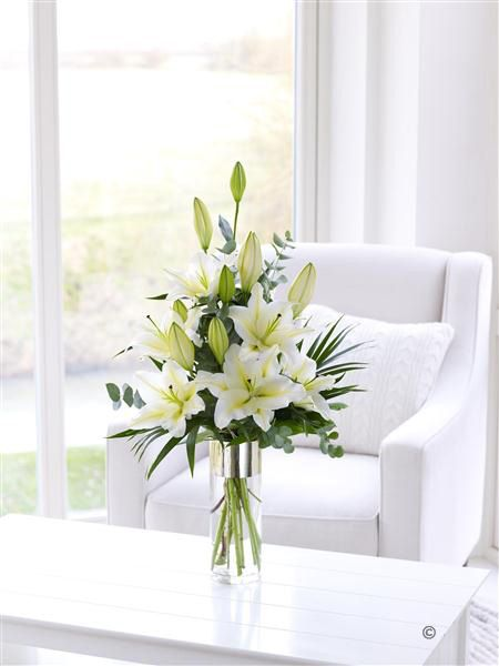 White Scented Lily Vase From 3499 At Jemini Flowers Oxford Www
