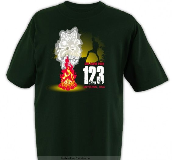 Wolf in Smoke - Cub Scout™ Pack Design SP4506
