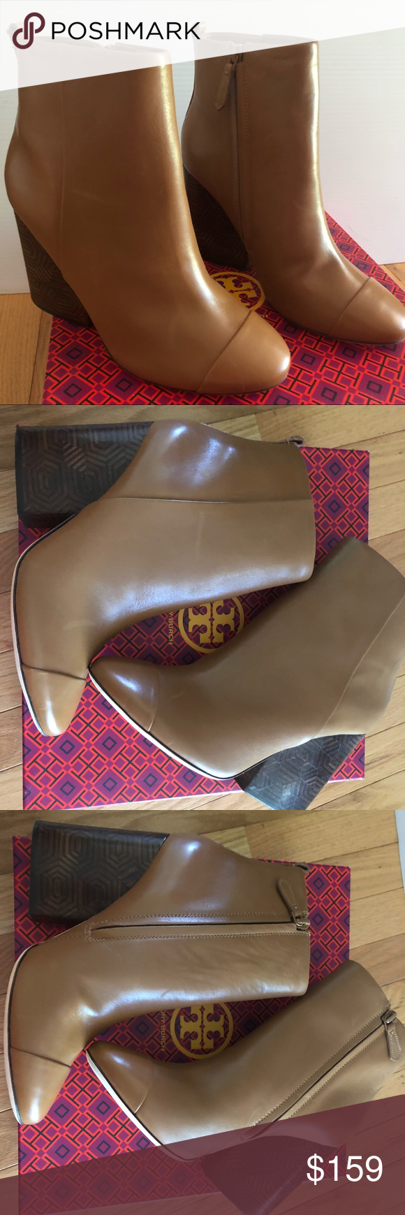 b4ea751dffd7 Tory Burch shoes size 8 Women s Tory Burch Grove 100mm royal tan Bootie  size 8. New in box. They may show small signs of being tried on.