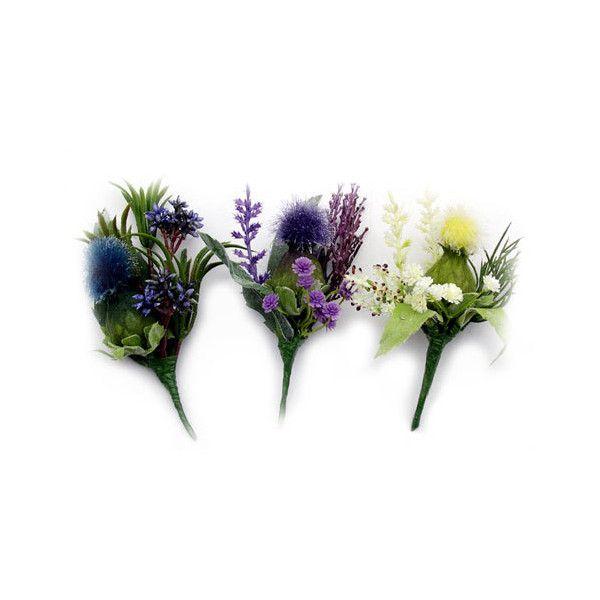 Scottish thistle silk flower corsages thistle flowers usa las scottish thistle silk flower corsages thistle flowers usa las 11 liked on polyvore mightylinksfo