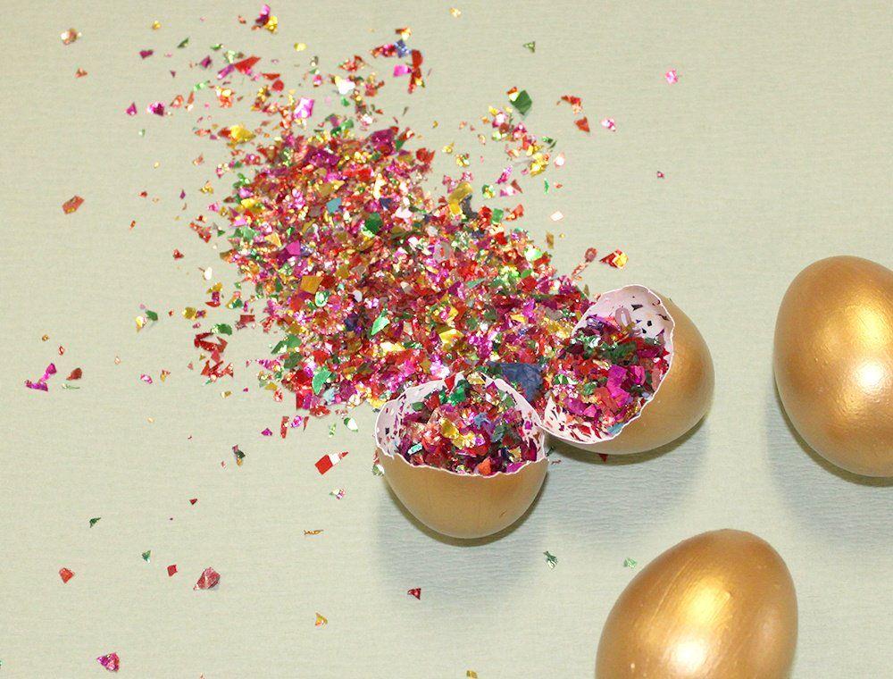 Creative Easter Egg Idea Diy Confetti Eggs Creative Easter Eggs Confetti Eggs Easter Eggs Diy