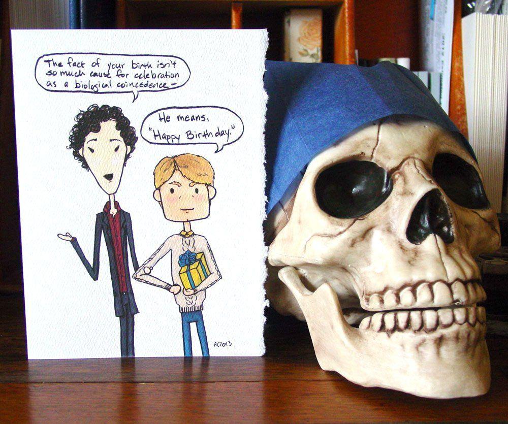 Sherlock birthday card Sherlock lustig, Sherlock bbc