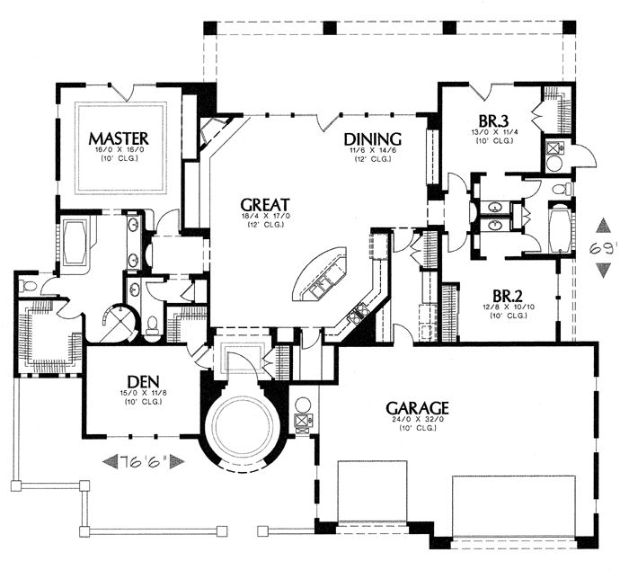 My Ideal Floor Plan Spanish Style Homes Spanish Style House Plans
