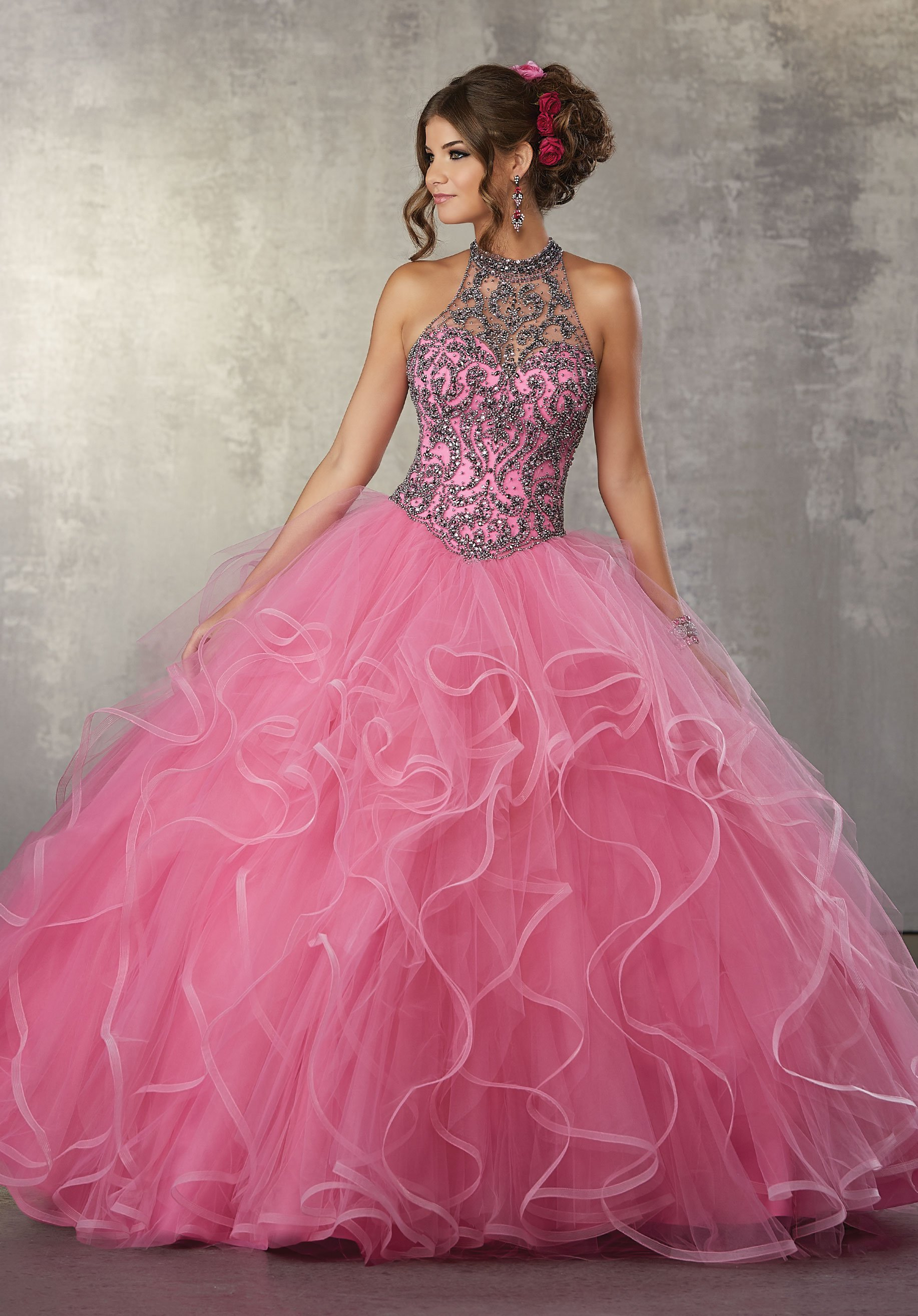 1666c58fd7d Ruffled Illusion Quinceanera Dress by Mori Lee Vizcaya 89163 in 2019 ...