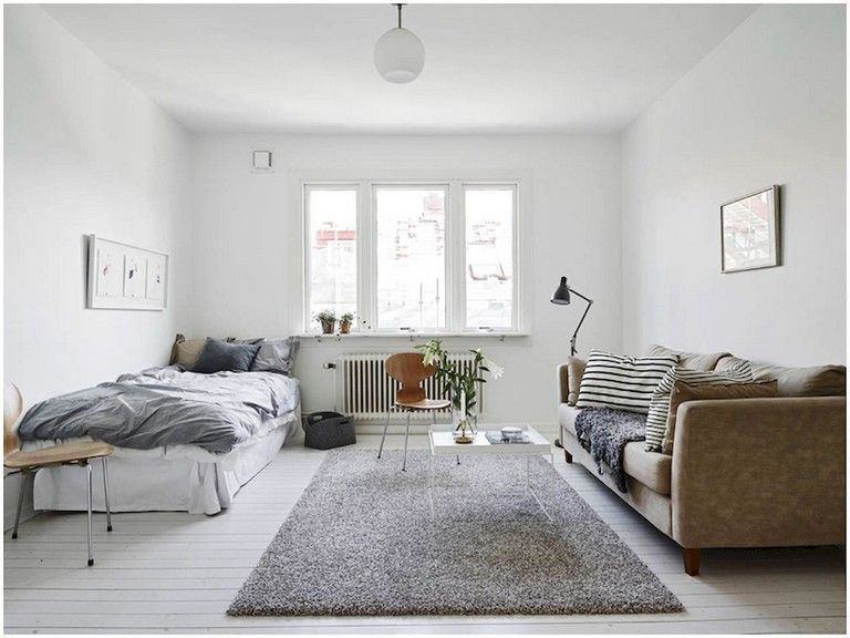 55 Awesome Studio Apartment With Scandinavian Style Ideas On A