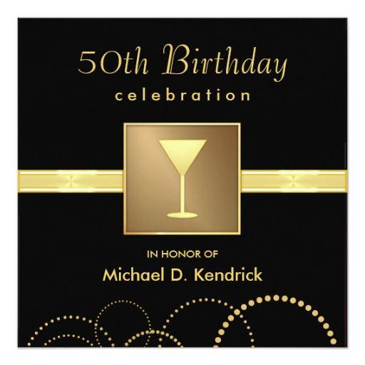 50th birthday party invitations formal black gold 525 square 50th birthday party invitations formal black gold 525 square invitation card filmwisefo Gallery